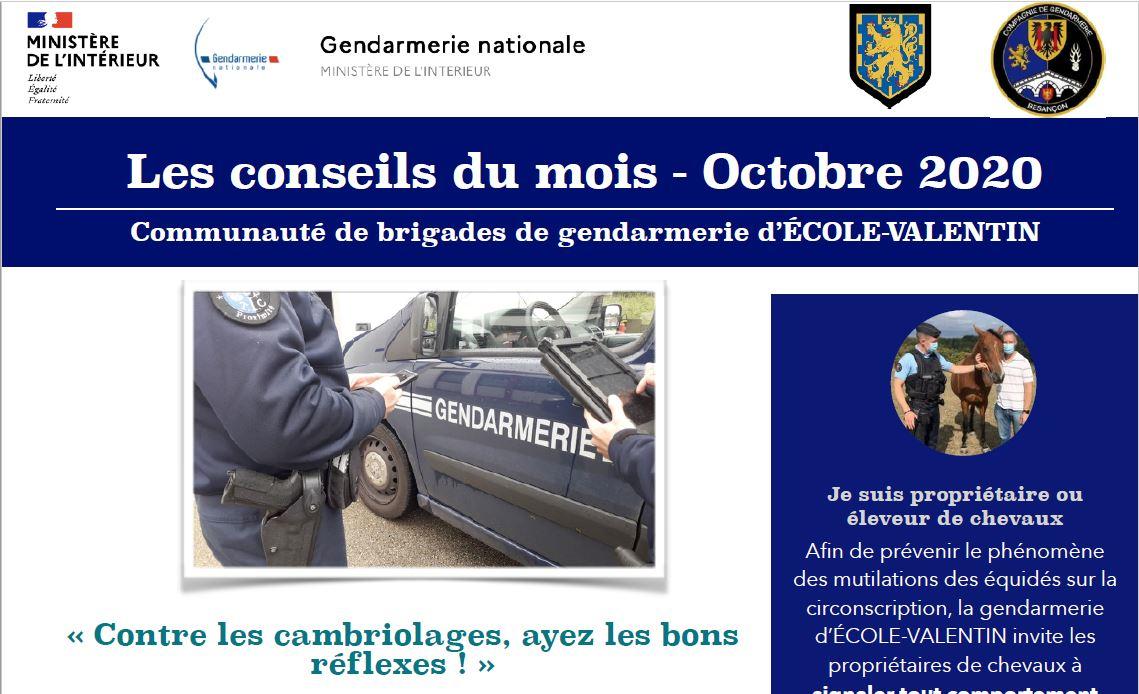 Infos gendarmerie octobre