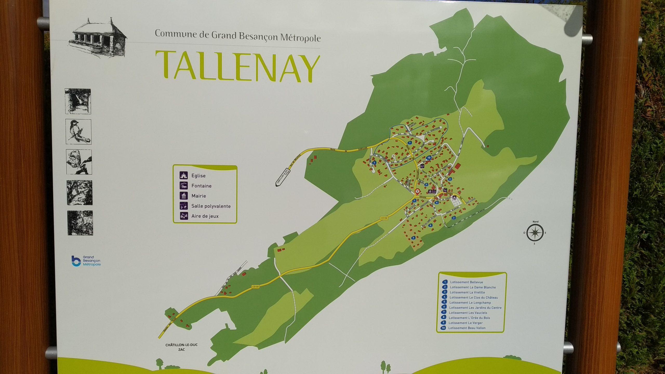 Nouveau plan de Tallenay